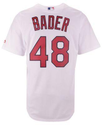 quality design bd1d1 0df4b Majestic Men s Harrison Bader St. Louis Cardinals Player Replica Cool Base  Jersey - White XXL