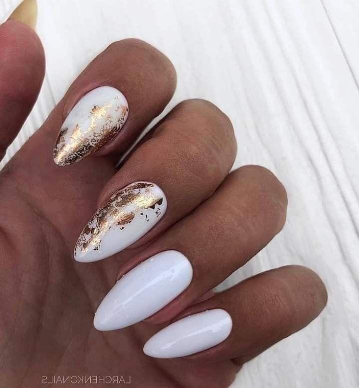 Pin de América Dorantes Nava en uñas | Uñas espejo, Manicura de uñas, Uñas doradas
