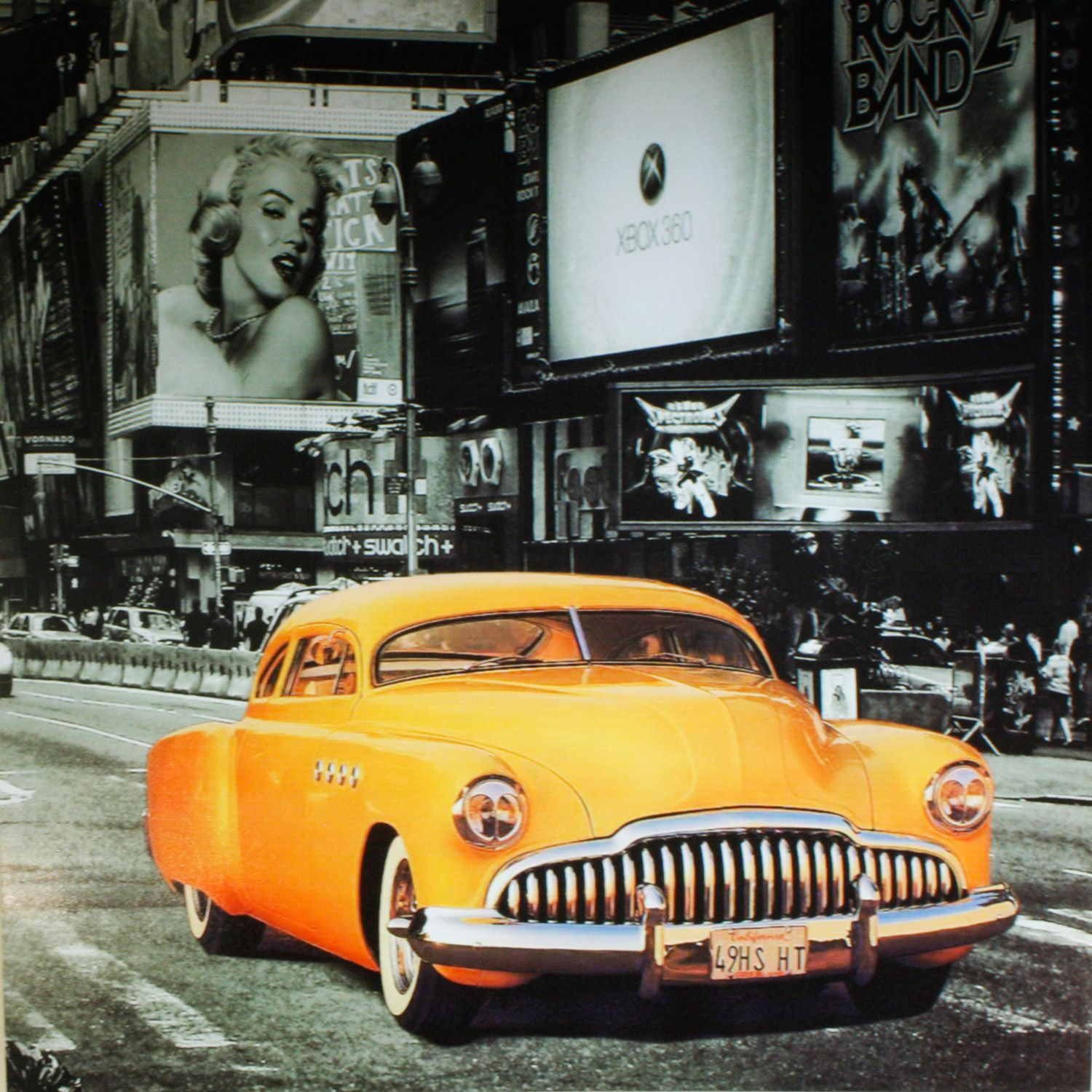 New York Taxi Street City Canvas Wall Art Picture Print Va: Buy NYC Yellow Taxi Canvas