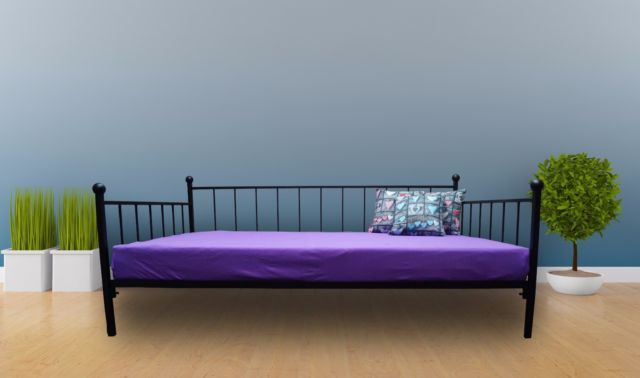 Tagesbett Metallbett 120x200 Sofa Bett Inkl Lattenrost 20