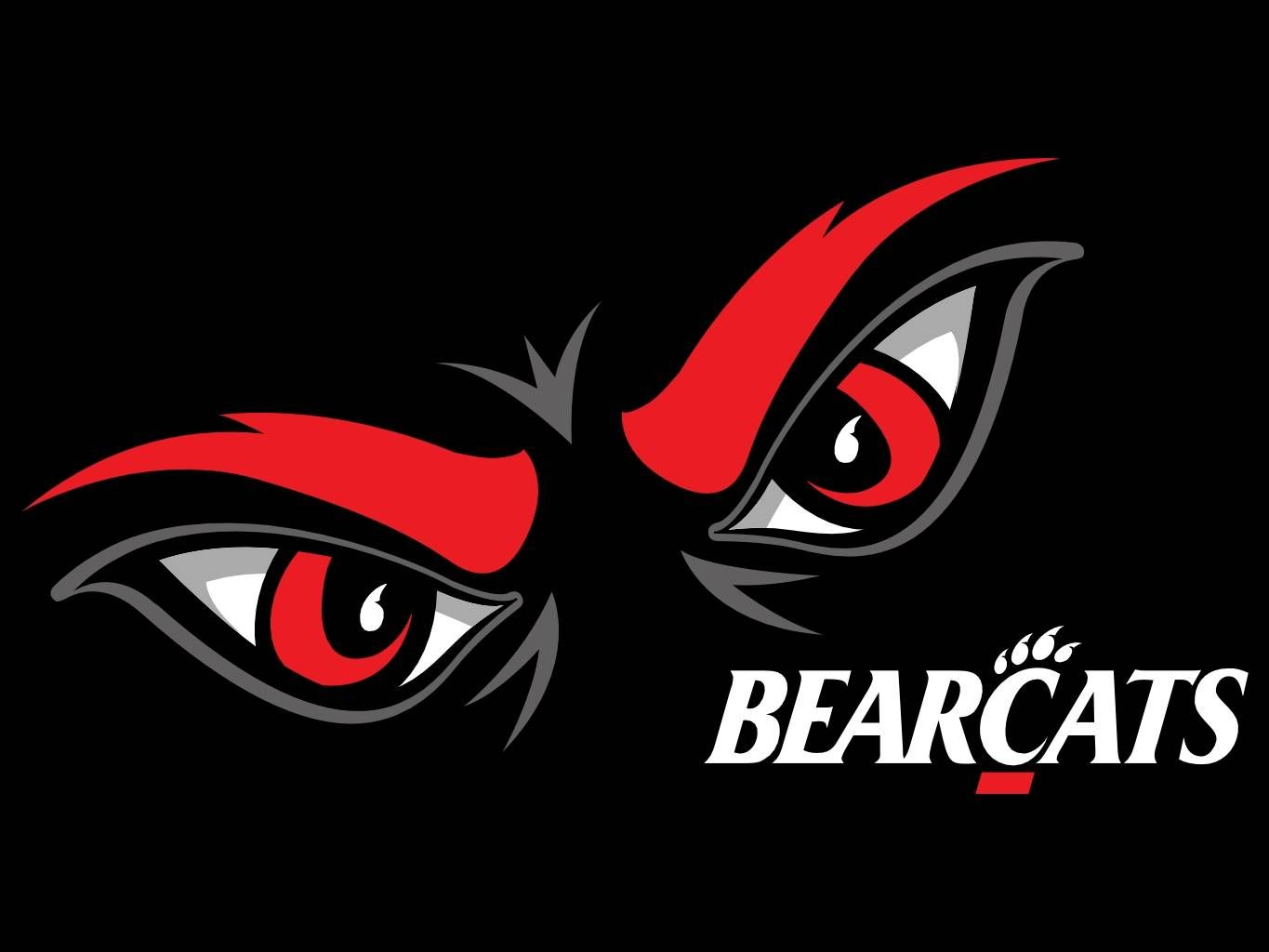 University Of Cincinnati Bearcats Eyes Screensaver 6 Football