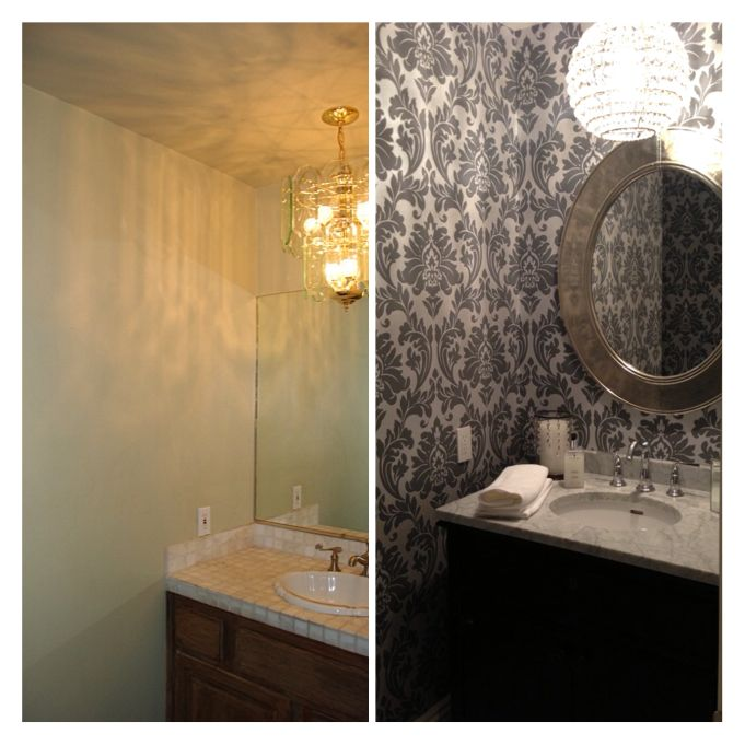 Powder Room - Before And After.