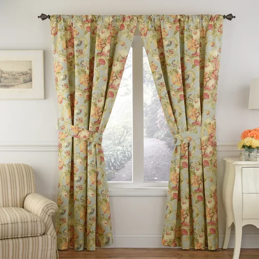 Spring Bling 100 Cotton Floral Thermal Rod Pocket Single Curtain Panel Curtains Living Room Panel Curtains Curtains