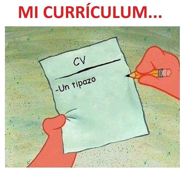 "MEMES DE CIENCIAS SOCIALES en Instagram: ""#curriculumvitae #momazo"" |  Memes, Funny memes, Funny puns"