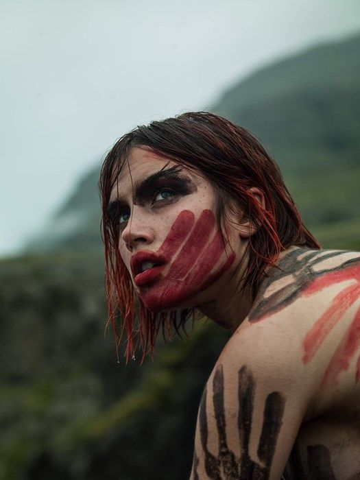 Getting feral in the Icelandic wild with Isamaya Ffrench.