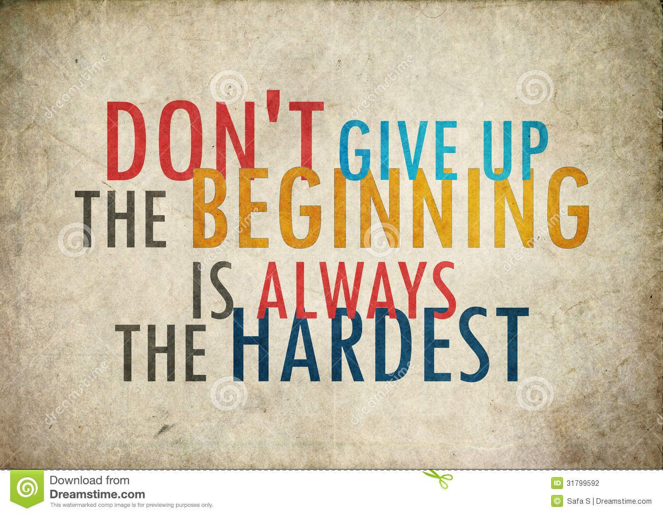 Grunge Vintage Dont Give Up Quote Stock Photography Image