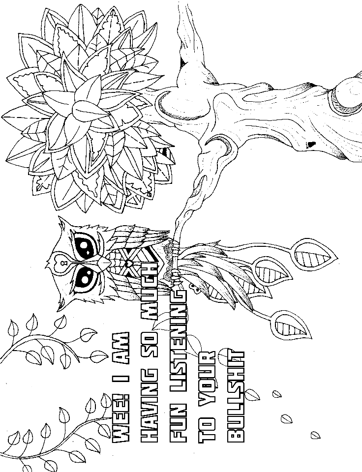 14 Free Coloring Pages At Swearstressaway Com This Swear Word Swear Word Coloring Pages Printable Free