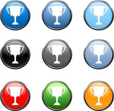 award royalty free vector icon set in nine colors vector art illustration