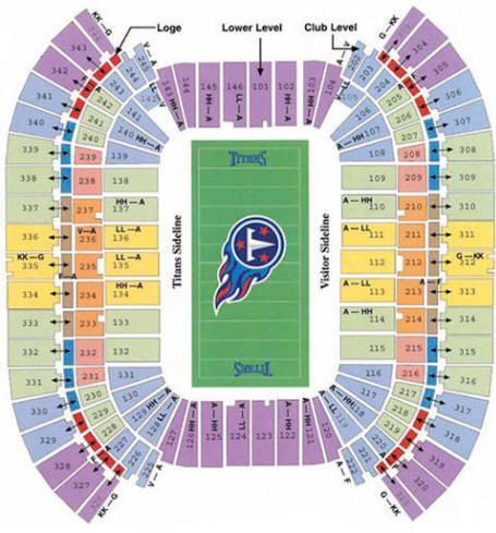 Lp Field Stadium Seating Chart Titans Music City Nebraska Cornhuskers City