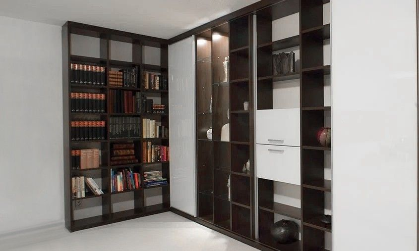 wandmeubel boekenkast opberg woonkamer interieur