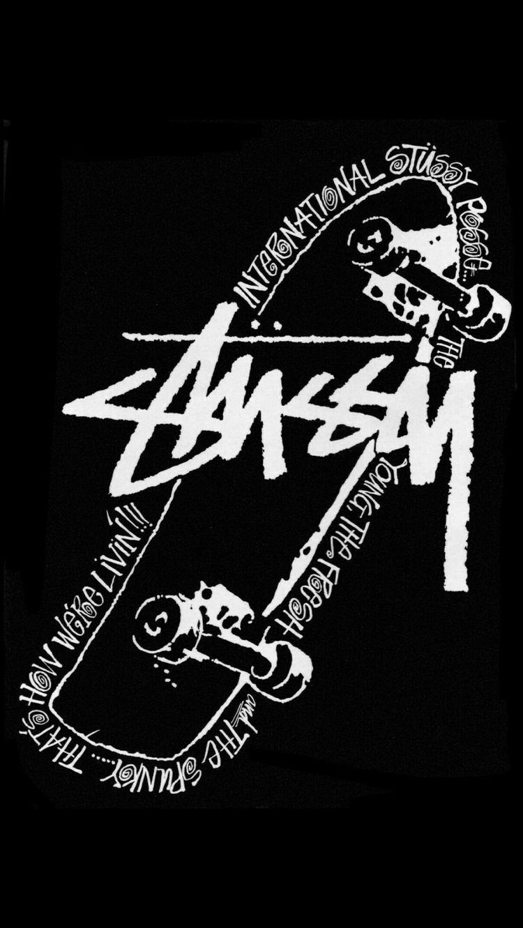 Pin by Frank Rocketship on skate band | Stussy wallpaper, Black wallpaper, Hypebeast wallpaper