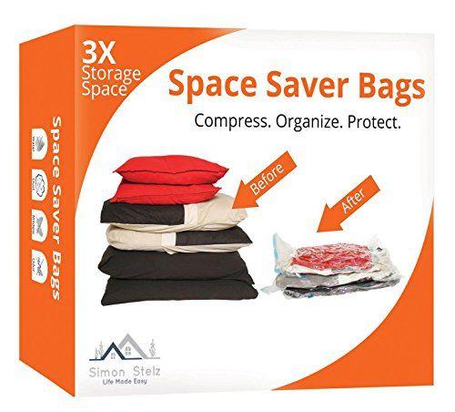 Food storage bags vacuum