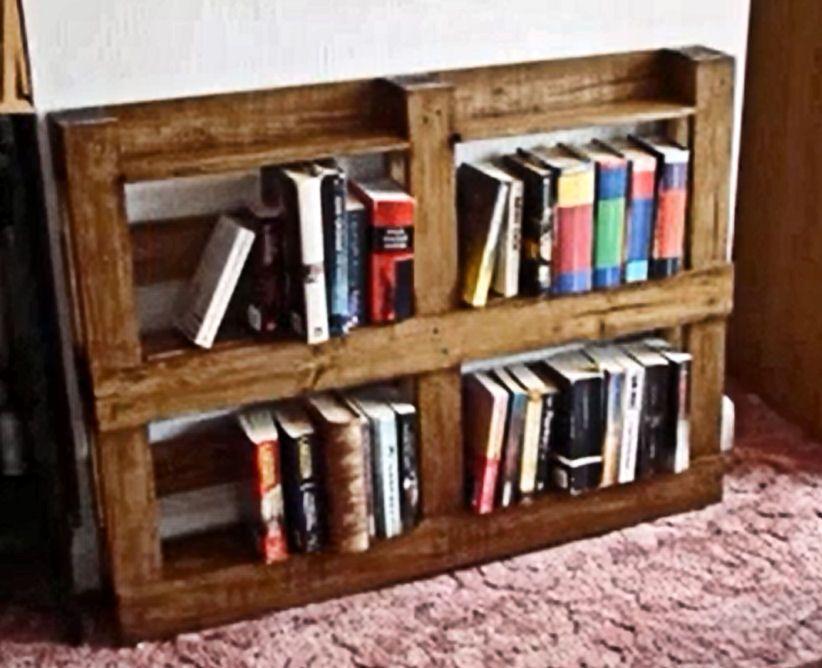 Pallet Bookshelf Wonderment Bookshelves Wooden Shelves Storage Ideas