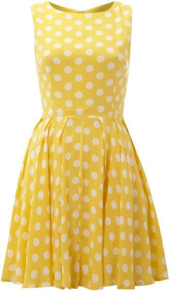 Love this: Polka Dot Skater Dress @Lyst