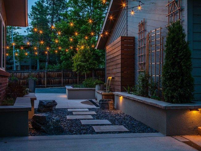 Garden lighting café lights andrea cochran landscape architecture san francisco ca