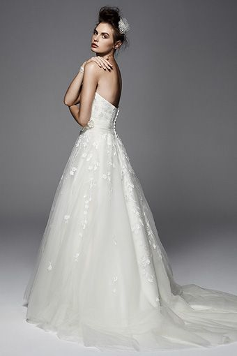 50s Wedding Dress Hibiscus