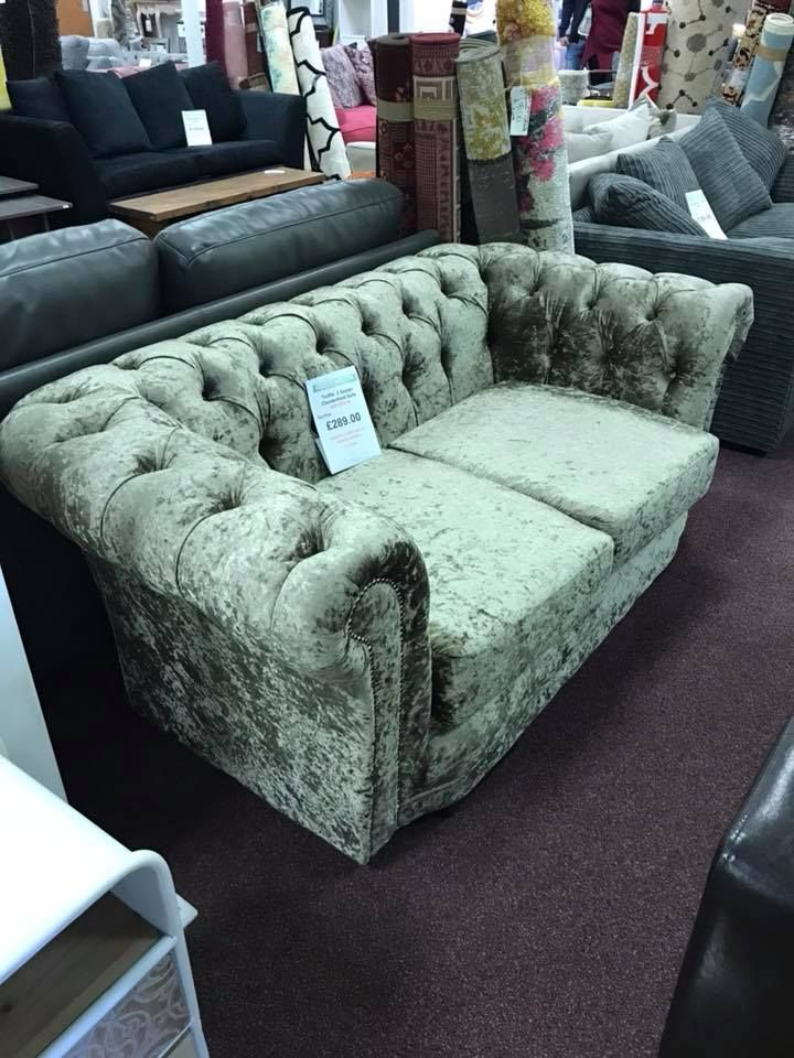 Truffle 2 Seater Chesterfield Sofa With Velvet Upholstery 289 Sofa Chesterfield Velvet Chesterfieldsofa Velvetsofa Sofa Chesterfield Sofa Velvet Sofa
