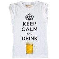 Maglia Donna Keep Calm and Drink Beer
