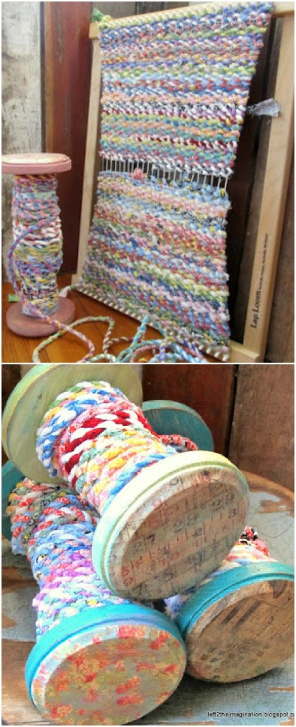 How To Make Scrap Fabric Twine Video Instructions #scrapfabric