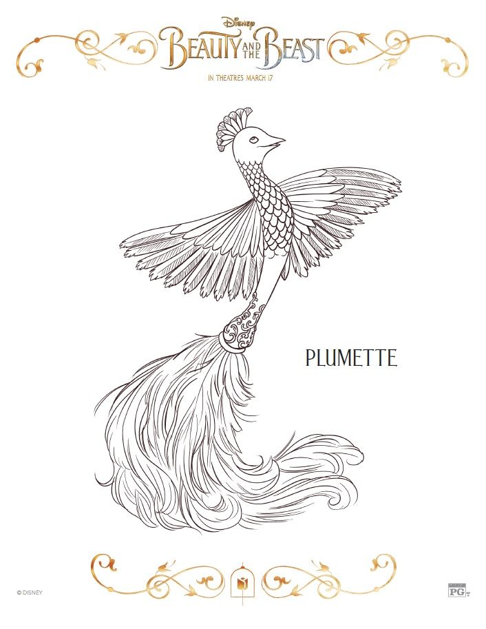plumette coloring page celebrate the tale as old time with free printable beauty and the