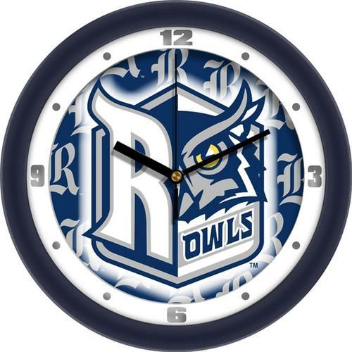 Rice University Owls Glass Wall Clock