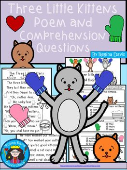 A Three Little Kittens Comprehension For Guided Reading Little Kittens Guided Reading Reading