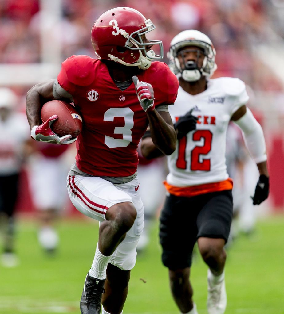 Alabama S Offense Firing On All Cylinders Against Mercer Mercer Football Alabama Football Bama Football