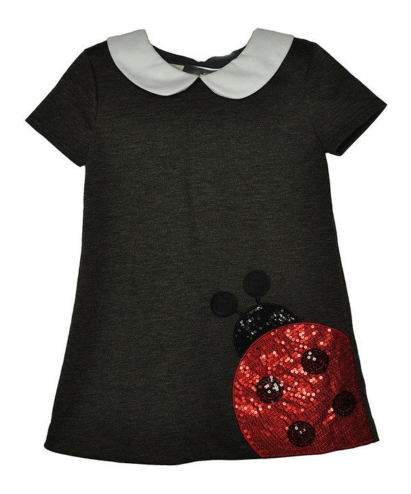 Look at this Charcoal Ladybug Ponte Dress #zulily #ad *cute