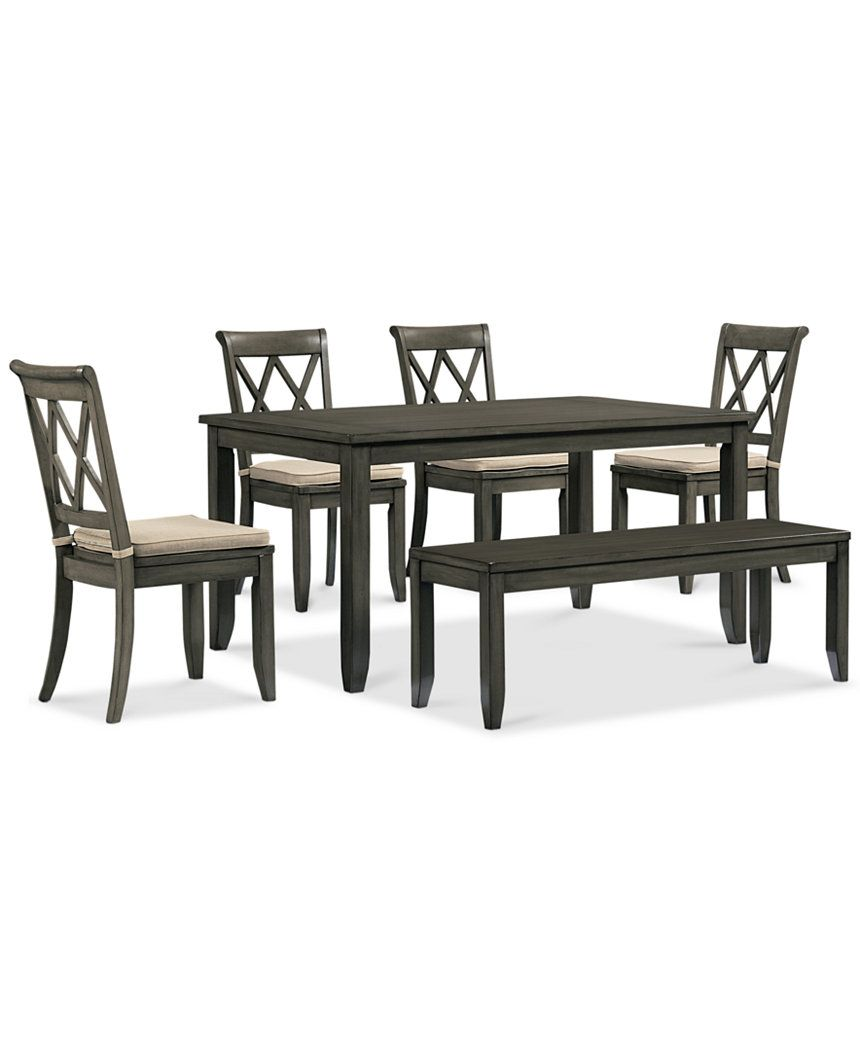 Astonishing Russet 6 Piece Dining Set Dining Table 4 Chairs And Bench Pdpeps Interior Chair Design Pdpepsorg
