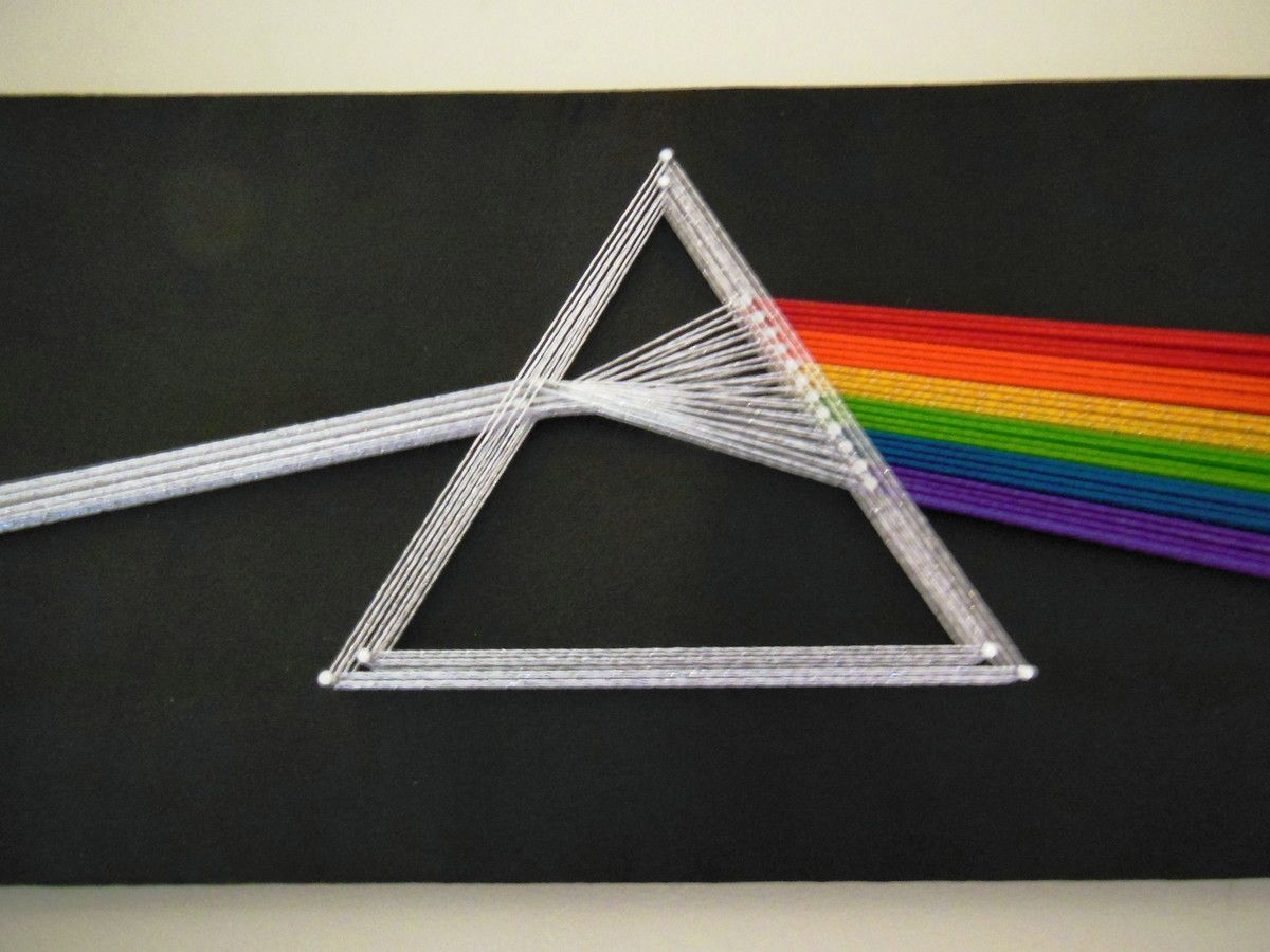 How To Do String Art Quadro Pink Floyd Dark Side Of The Moon String Art 90x40cm 20870