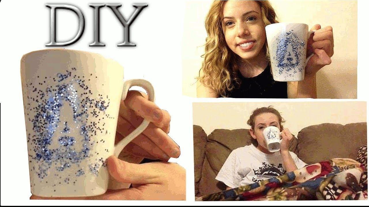 DIY initial coffee mug