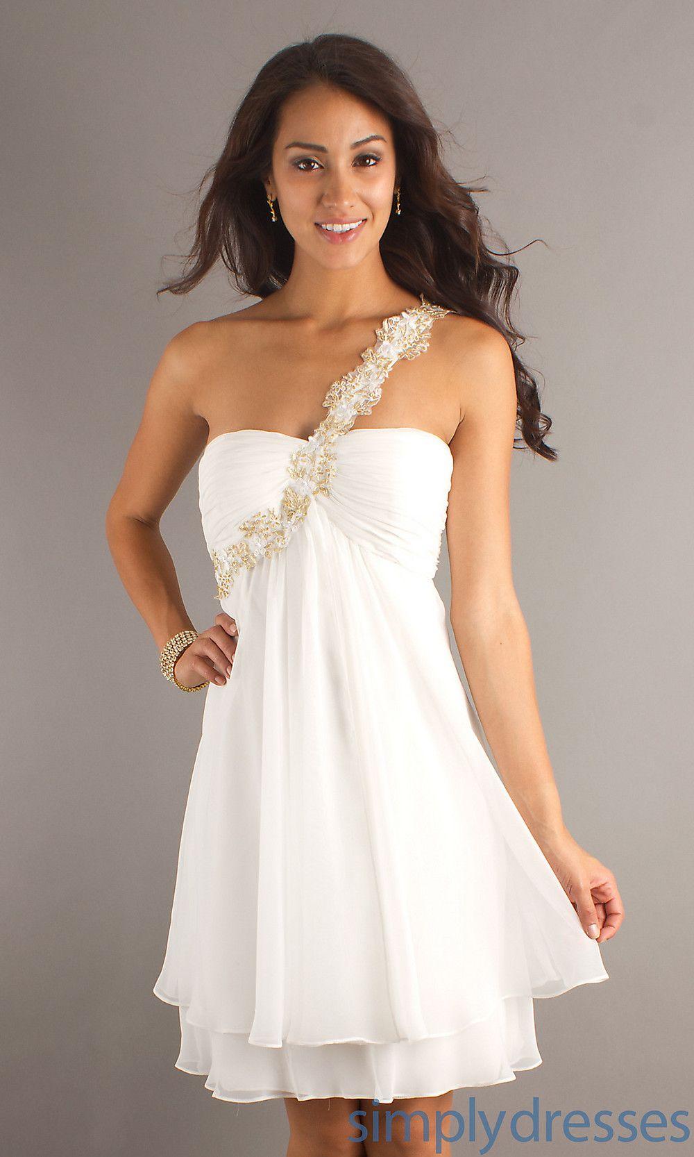 Party Dress Graduation Dress Short Ivory Dress - Simply Dresses ...