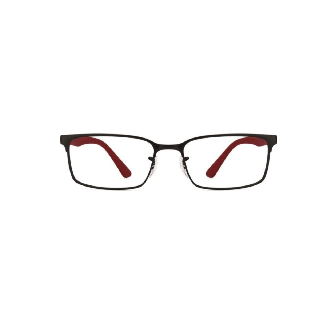 bff81ffdc5 Ray-Ban RX6325-2503 Black Frame and Black Red Temple Unisex Rectangular  Eyeglasses ray ban  Unisex  Rectangular  Eyeglasses