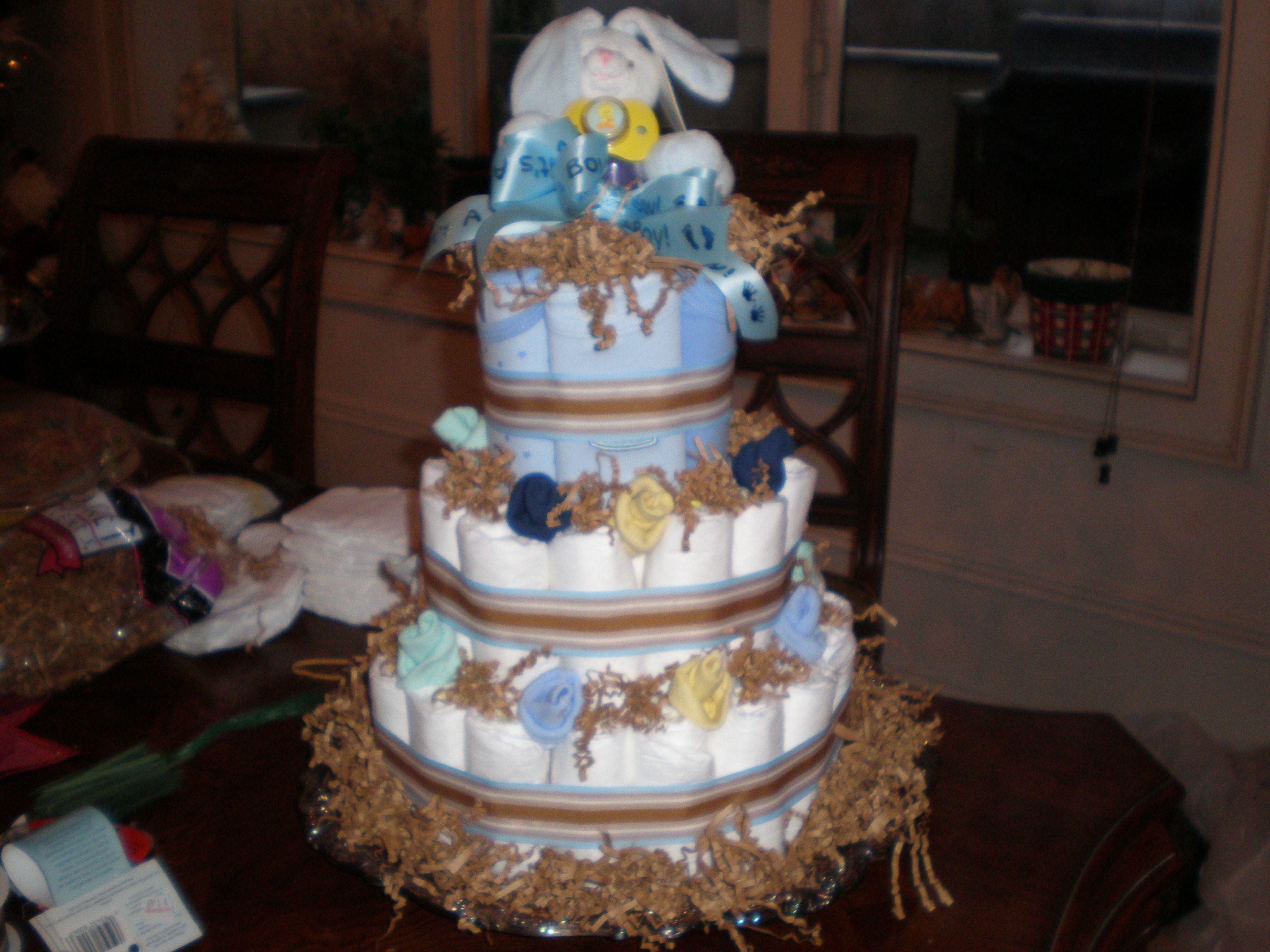 Diaper Cake for baby shower or hospital gift
