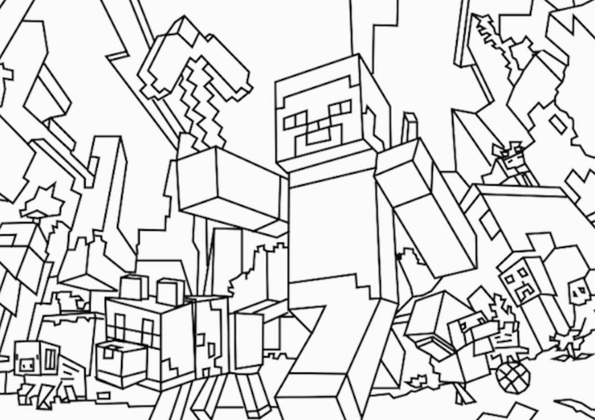 Heroes Are Attacking High Quality Free Coloring From The Category Minecraft More Print Minecraft Coloring Pages Ninjago Coloring Pages Snake Coloring Pages [ 840 x 1188 Pixel ]