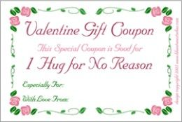 IOU Cards Blank Gift Certificate