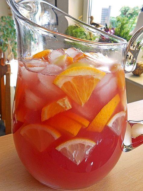 Rosa Sangria (Rezept mit Bild) von chefkoch | Chefkoch.de #alcoholicpartydrinks