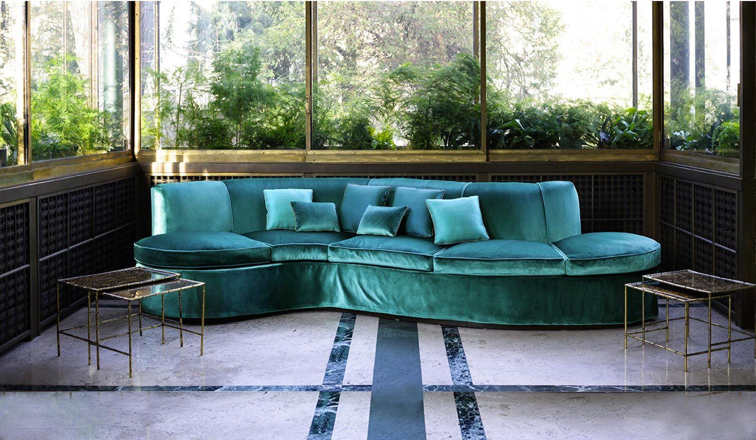 Stunning petrol blue sofa in velvet! by Dedar Milano #high-end #sofa ...