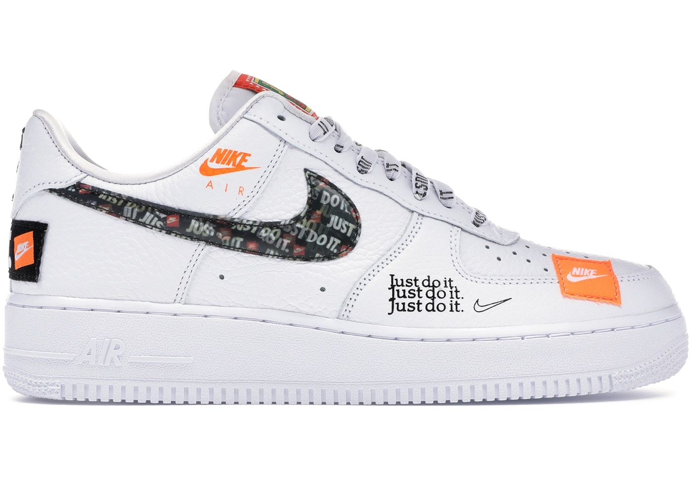 Nike Air Force 1 Low Just Do It Pack White Black Hype Shoes Beautiful Sneakers Black Nikes