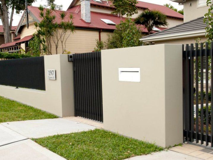 Tips To Build Minimalist Fence Design | Arhi yard | Pinterest ...