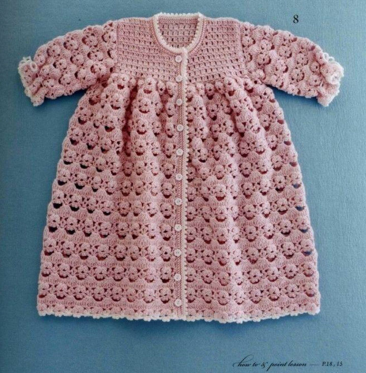 Beautiful Crochet Dress Pattern For Babies 0-12 months. More Great ...