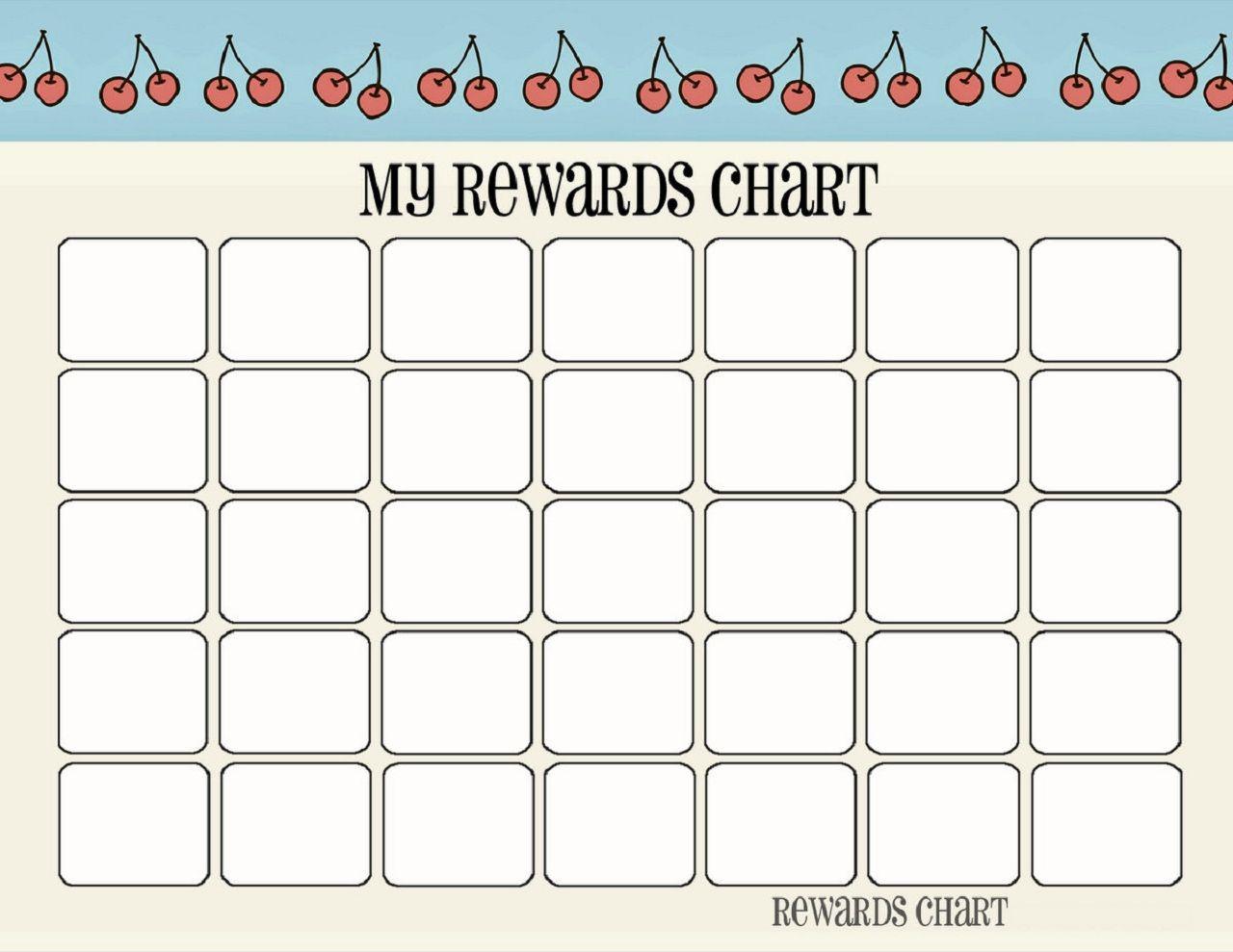 Printable Reward Chart Template In