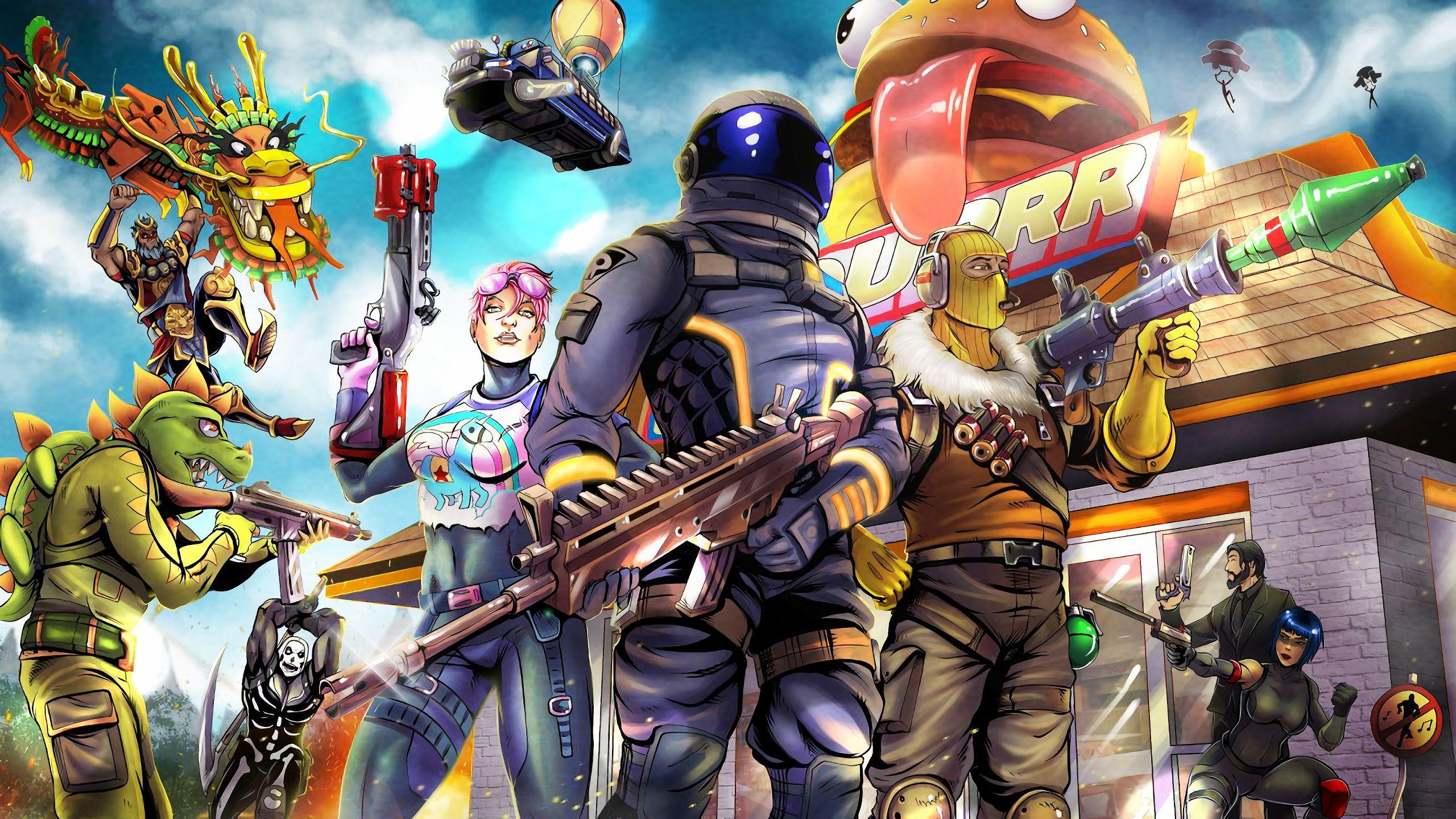 Download 2018, Video Game, Fortnite, Art, Wallpaper De