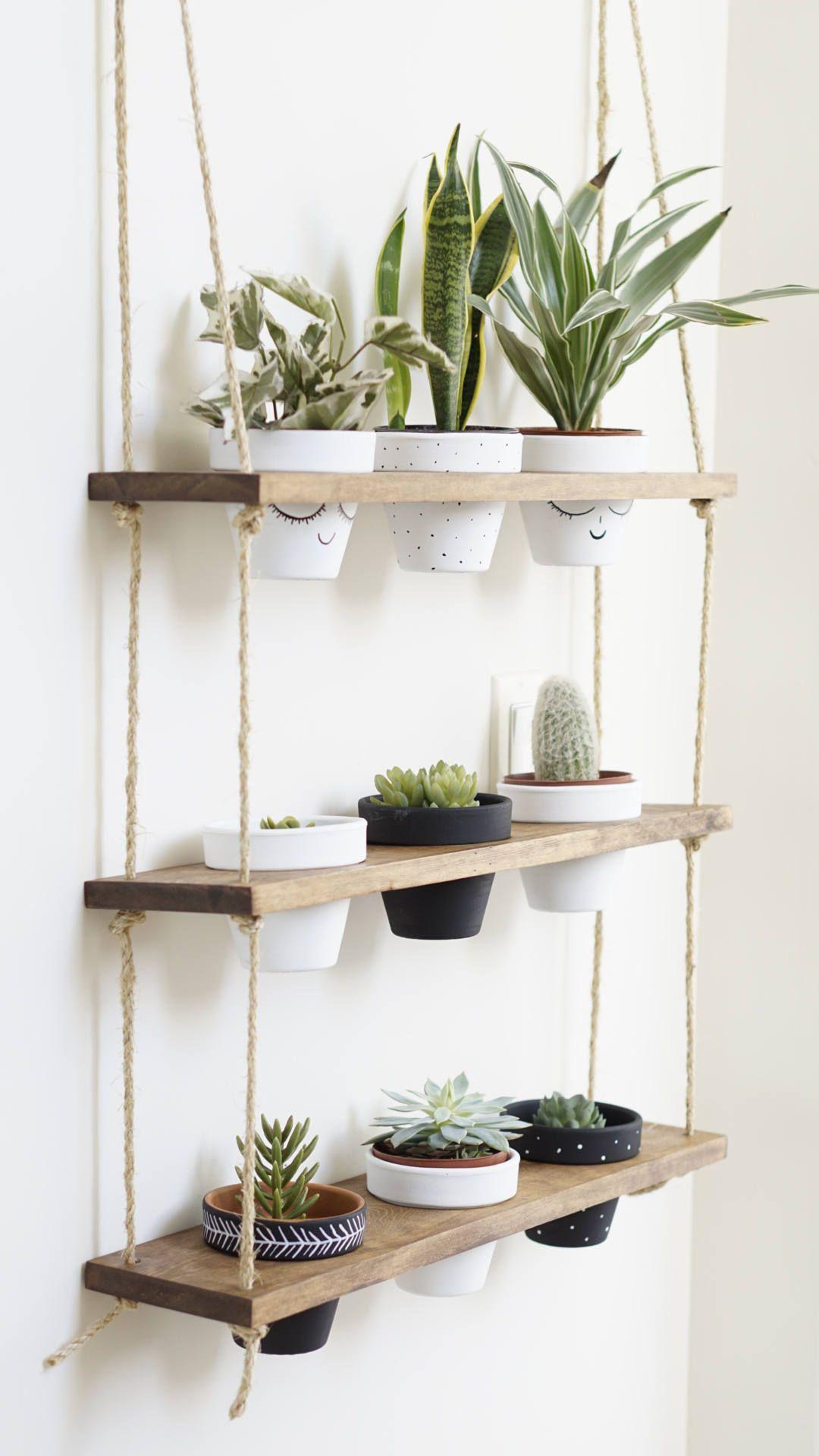Fabriquer Une Étagère Pour Plantes tribeca trio pot shelf / hanging shelves / planter shelves