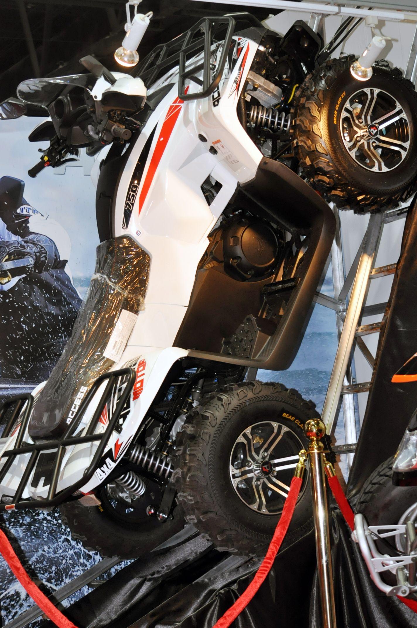 Dirt Bike Center Stand At Dubai International Motor Show 2015