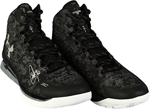 02711e390cd7c Stephen Curry Golden State Warriors Autographed Curry 1 Black and ...