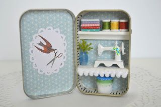 Tea Rose Home: Tiny Tin Sewing Room Now in My Etsy Shop! I love this :)