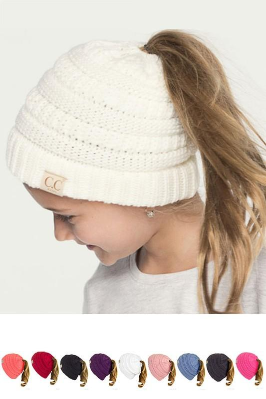 49db472806775 CC Pony Tail Beanie - Kids   Adult - Many Colors!