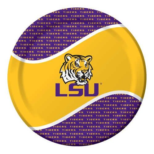 LSU Tigers 9 inch Paper Plate PlatesAndNapkins.com