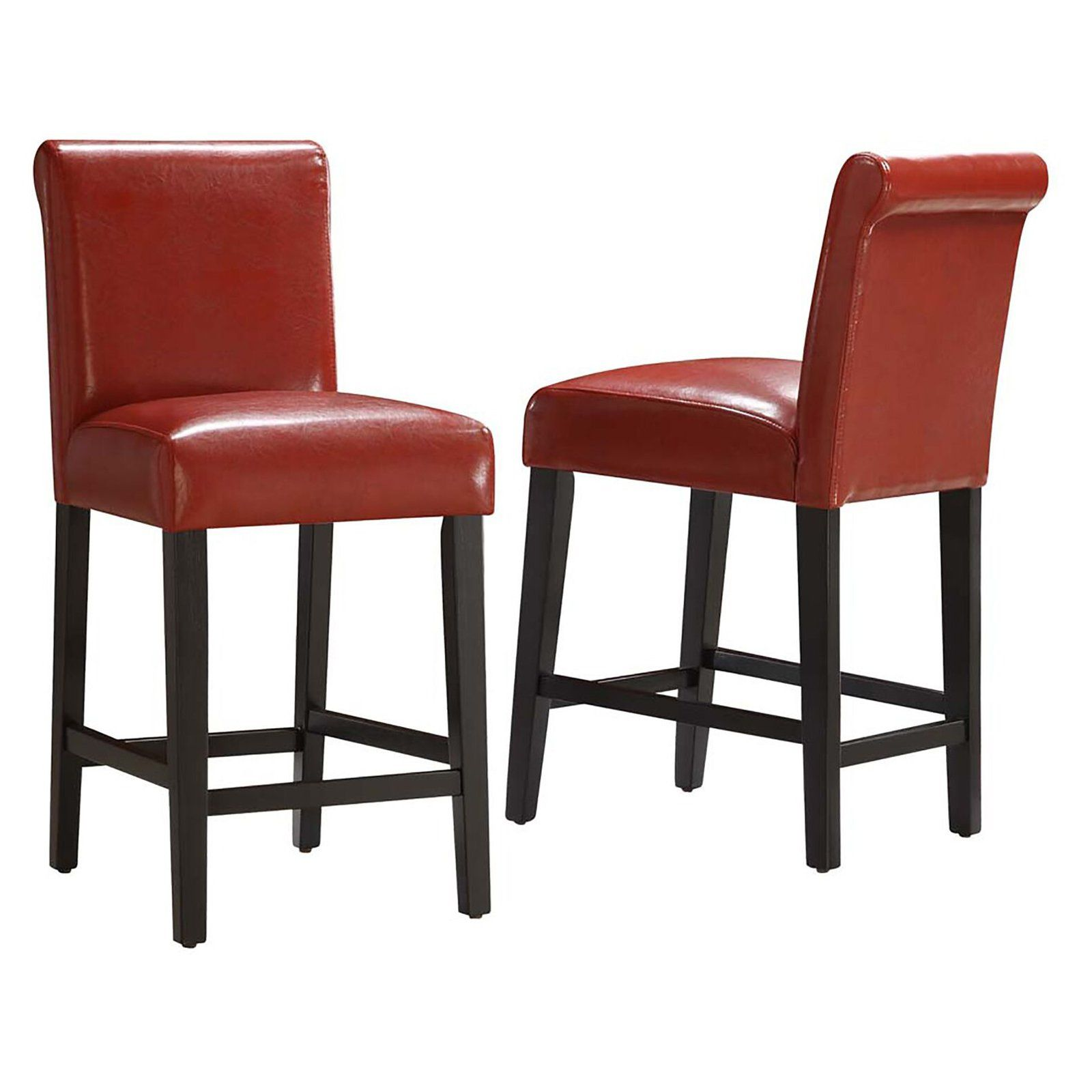 Weston Home Arica 24 In Faux Leather Counter Stool Set Of 2 Casas Ideias